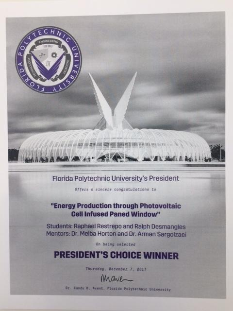 "President's Choice Winner"" during poster competition"