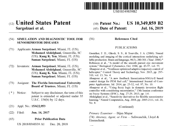 Our patent has been granted by the US patent office