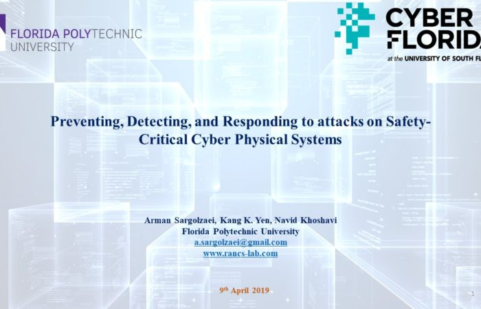 Invited talk by Dr. Sargolzaei at CyberFlorida