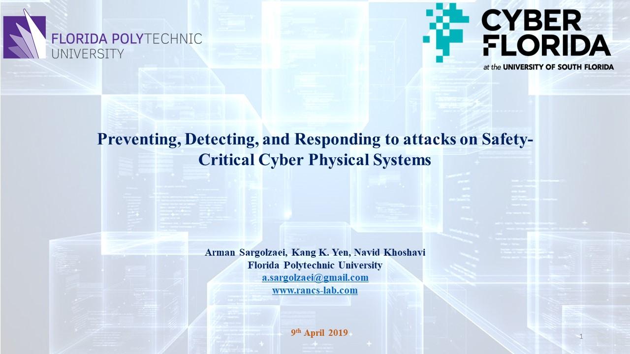 Invited talk by Dr. Sargolzaei at CyberFlorida